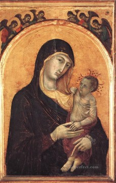 Angels Works - Madonna and Child with Six Angels Sienese School Duccio