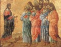Appearance on the Mountain in Galilee Sienese School Duccio