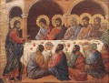 Appearance While the Apostles are at Table Sienese School Duccio