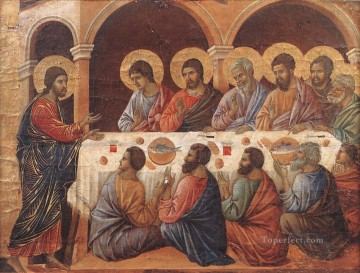 Apostle Art - Appearance While the Apostles are at Table Sienese School Duccio