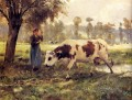 Cows At Pasture farm life Realism Julien Dupre