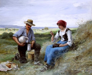 Le dejeuner de faneuses farm life Realism Julien Dupre Oil Paintings