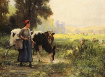 farm Works - LA VACHERE farm life Realism Julien Dupre