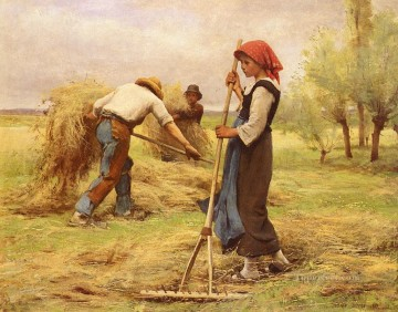 La Recolte Des Foins farm life Realism Julien Dupre Oil Paintings
