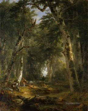Asher Brown Durand Painting - In The Woods Asher Brown Durand
