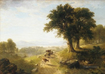 Asher Brown Durand Painting - River Scene Asher Brown Durand