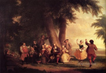 Asher Brown Durand Painting - The Dance Of The Battery In The Presence Of Peter Stuyvesant Asher Brown Durand