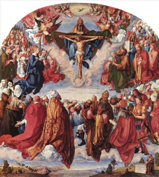 Adoration of the Trinity Albrecht Durer Oil Paintings