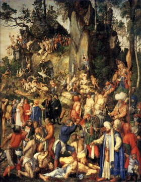 renaissance Painting - Martyrdom of the Ten Thousand Nothern Renaissance Albrecht Durer
