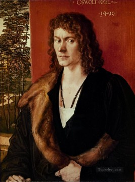 the Canvas - Albrecht Portrait of a Man Nothern Renaissance Albrecht Durer