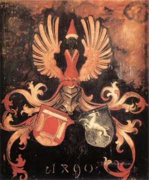 the Canvas - Alliance Coat of Arms of the Durer and Holper Families Nothern Renaissance Albrecht Durer