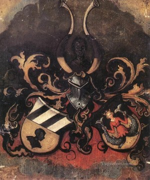 the Canvas - Combined Coat of Arms of the Tucher and Rieter Families Nothern Renaissance Albrecht Durer