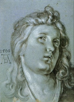 Albrecht Durer Painting - Head of an Angel Nothern Renaissance Albrecht Durer