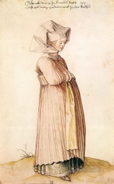 Albrecht Durer Painting - Nuremberg Woman Dressed for Church Albrecht Durer