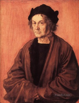 Portrait of Durers Father at 70 Nothern Renaissance Albrecht Durer Oil Paintings