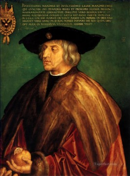 the Canvas - Portrait of Emperor Maximilian I Nothern Renaissance Albrecht Durer