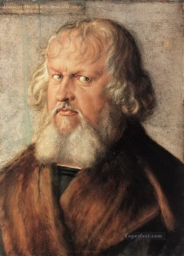 Hieronymus Oil Painting - Portrait of Hieronymus Holzschuher Albrecht Durer