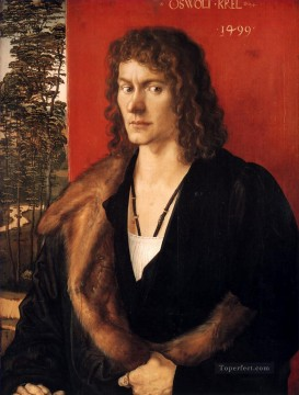 the Canvas - Portrait of Oswolt Krel Nothern Renaissance Albrecht Durer