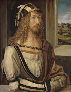 renaissance Painting - Self Portrait at 26 Nothern Renaissance Albrecht Durer