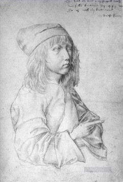 renaissance Painting - Self portrait at 13 Nothern Renaissance Albrecht Durer
