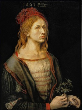 renaissance Painting - Self portrait at 22 Nothern Renaissance Albrecht Durer