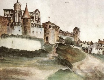 Albrecht Durer Painting - The Castle at Trento Albrecht Durer