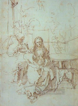 Family Works - The Holy Family in a Trellis Nothern Renaissance Albrecht Durer