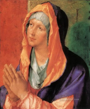Virgin Painting - The Virgin Mary in Prayer Albrecht Durer