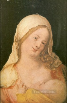 Virgin Painting - Virgin Suckling the Child Albrecht Durer