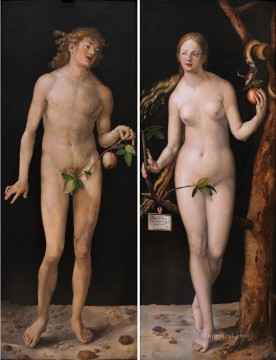 adam Painting - Adam and Eve Albrecht Durer