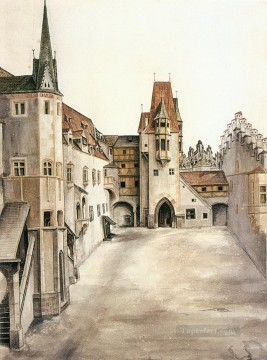 Inn Painting - Courtyard of the Former Castle in Innsbruck without Clouds Albrecht Durer