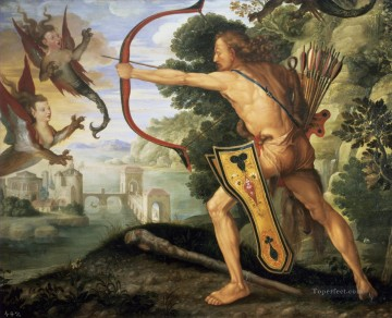 Hercules kills the Symphalic Bird Albrecht Durer Oil Paintings