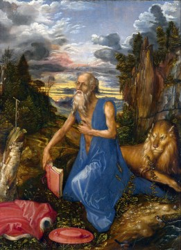 Albrecht Durer Painting - St Jerome in the Wilderness Albrecht Durer