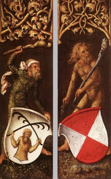Sylvan Men with Heraldic Shields Nothern Renaissance Albrecht Durer Oil Paintings