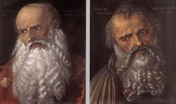 Albrecht Durer Painting - The Apostles Philip and James Albrecht Durer