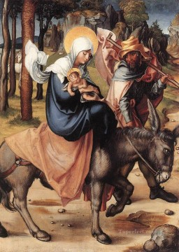 Virgin Painting - The Seven Sorrows of the Virgin The Flight into Egypt Albrecht Durer