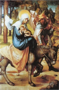 Albrecht Durer Painting - The flight to Egypt Softwood Albrecht Durer