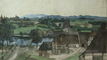 Albrecht Durer Painting - Watermill Wire Drawing Mill Albrecht Durer