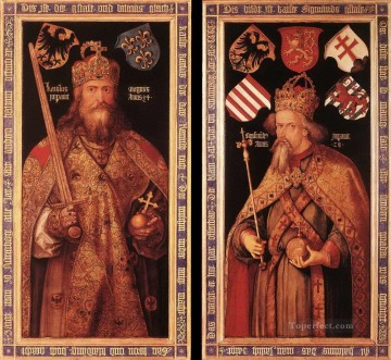Emperor Charlemagne and Emperor Sigismund Albrecht Durer Oil Paintings
