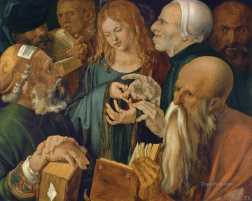 Albrecht Durer Painting - Christ among the Doctors Albrecht Durer