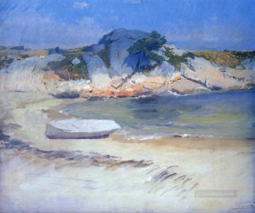 red Oil Painting - Sheltered Cove scenery Frank Duveneck