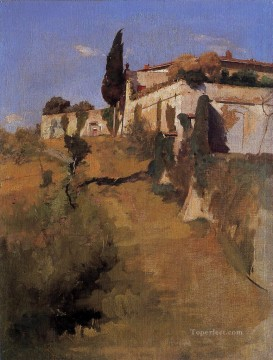 Villa Castellani Belloguardo landscape Frank Duveneck Oil Paintings