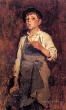 He Lives by His Wits portrait Frank Duveneck Oil Paintings