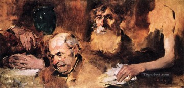 Hand Canvas - Heads and Hands study portrait Frank Duveneck