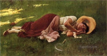 Siesta portrait Frank Duveneck Oil Paintings
