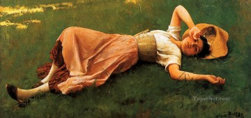 Siesta2 portrait Frank Duveneck Oil Paintings