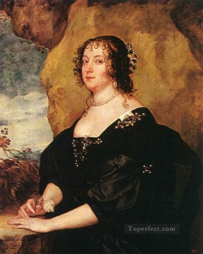 Anthony van Dyck Painting - Diana Cecil Countess of Oxford Baroque court painter Anthony van Dyck