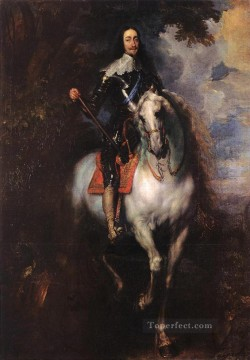 equestrian portrait of maria luisa of parma Painting - Equestrian Portrait of CharlesI King of England Baroque court painter Anthony van Dyck
