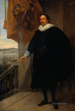 Anthony van Dyck Painting - Nicolaes van der Borght Merchant of Antwerp Baroque court painter Anthony van Dyck