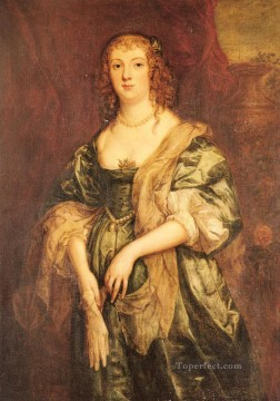 baroque - Portrait Of Anne Carr Countess Of Bedford Baroque court painter Anthony van Dyck